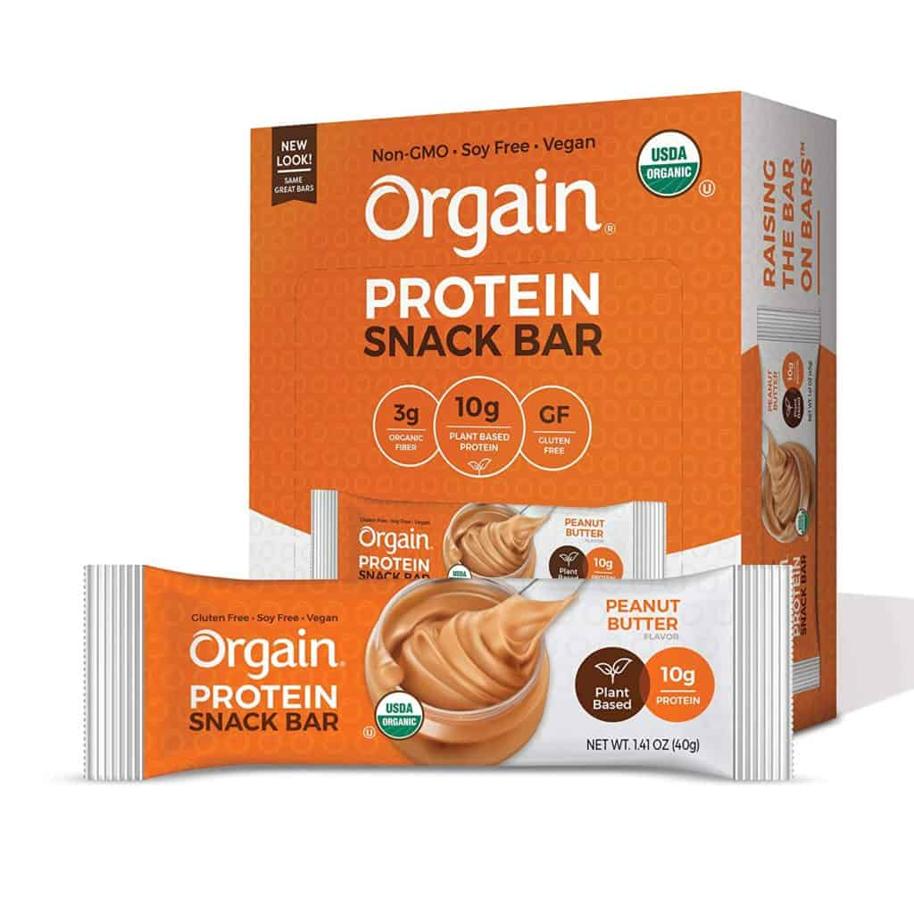 Orgain low carb protein bars