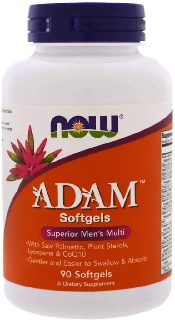 ADAM Men's Multivitamin - best organic multivitamin for men