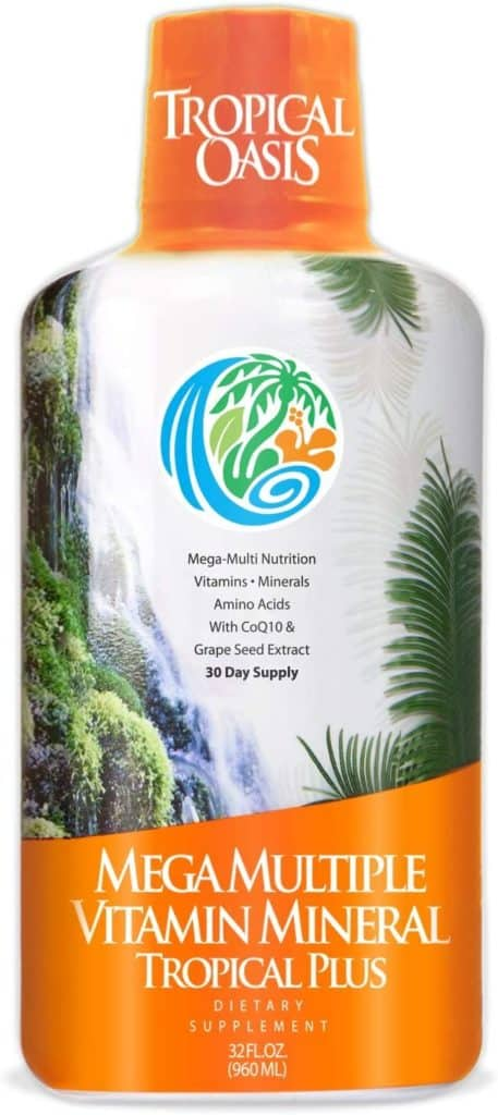 best organic multivitamin for men - Tropical Oasis Mega Plus - Liquid Multivitamin